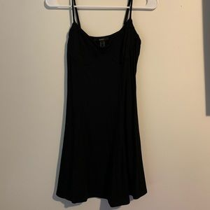 Black dress with under boob wire